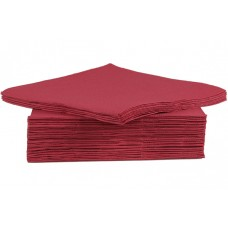 Servet Papier Bordeaux 38x38 cm. Per 40 Disposable Overig