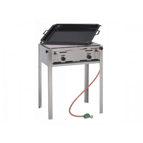 Grill Master Maxi Gasbarbecue Bakplaat en Rooster Barbecue Gas