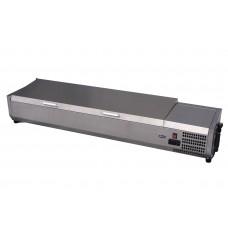 Opzetkoelvitrine met Deksel | 4 x GN1/3 | -2 tot +8 ° C |  1205 x 395 x (H)430 mm Opzetkoelvitrines