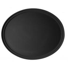 Cambro Ovaal Dienblad Anti-Slip Zwart | Afm. 56x68,5 cm. Dienblad Antislip