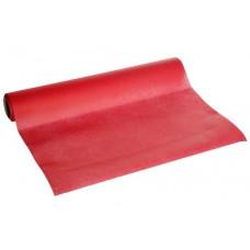 Tafelloper Papier voelt als Textiel Rood | 0.4 x 4.8 meter |  Per rol Tafelkleden