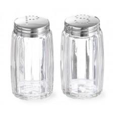 Peper en Zoutstrooier Glas RVS Dop Per 2 Menage + Peper en Zout