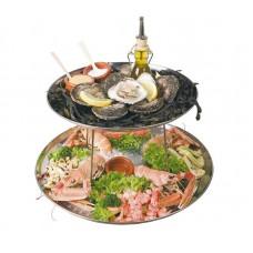Zeevruchten Standaard met Twee Dienbladen Etagères