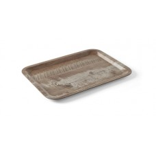 Dienblad van Melamine met Houten Bewerking Donker Eiken 240x350 Dienbladen