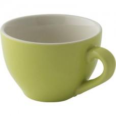 Colors Cappuccino Kop en Schotel Lime 18 cl. | Per 6 Palmer Colors