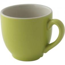 Colors Koffie Kop en Schotel Lime 14 cl. | Per 6 Palmer Colors