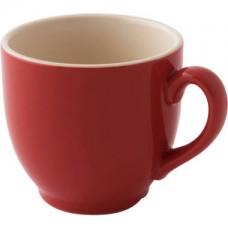 Colors Koffie Kop en Schotel Rood 14 cl. Per 6 Palmer Colors