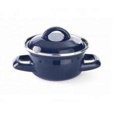 Soep- Sauspannetje Blauw Geemailleerd 0.4 Liter Overige Pannen