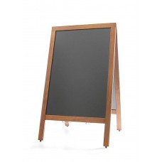 Krijtstoepbord met Houten lijst 50 x 85 cm. Stoepborden