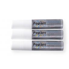 Krijtstift met Platte Brede Punt 15 mm 3 Wit Tafelkrijtbord
