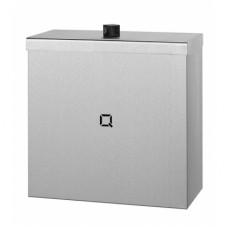 Qbic Afvalbak RVS mat GESLOTEN Inhoud 9 liter  Qbic-Line RVS Dispensers
