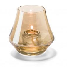 Hollowick Conische Lamp Goud Helder Glas | 5 X 9 cm. | 12 stuks Hollowick Theelicht