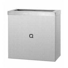 Qbic Afvalbak RVS mat OPEN Inhoud 9 liter  Qbic-Line RVS Dispensers