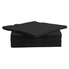 Servet Papier Zwart 38x38 cm. Per 40 Disposable Overig