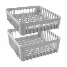 Vaatwaskorf met 40 Pinnen voor Glazen | 400 x 400 x H110 mm Vaatwaskorven