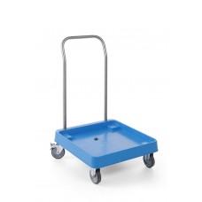 Hendi Trolley met Handvat voor Vaatwaskorvven | 2 Zwenkwielen Vaatwaskorven