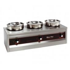 Thermosystem System met 3 potten Bain Marie Tafelmodel