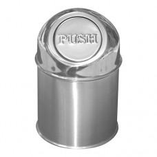 Tafelafvalbakje | Klapdeksel | RVS | 1.5 Liter Afval- Asbakken