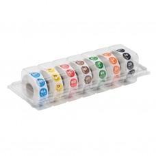 Kleurcode Permanent Sticker Dispenser Ø 19 mm Voedselstickers
