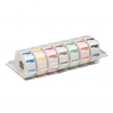 Kleurcode Sticker Dispenser | 7x 1000 stuks | 25x25 mm Voedselstickers