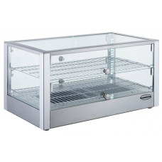 Warmhoudvitrine | 2 Roosters | 80 Liter | +30°C - +90°C Warmhoudvitrines