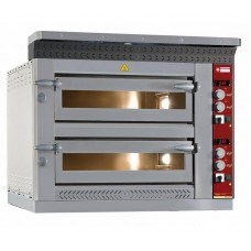 Pizza Oven Elektrisch Dubbel 2x6 Pizza's Ø35cm 13,2kW 400V Pizzaovens