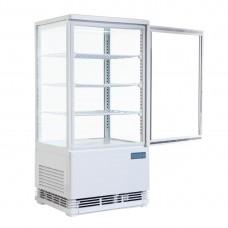 Polar gekoelde vitrine wit 68ltr