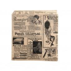 Vetvrij papier zakje Newspaper Brown | 18x17 cm. | Per 500 stuks  Disposable Overig