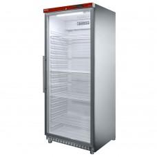 Diamond Horeca Jumbo koelkast met glazen deur RVS | 600 Liter  Koelkasten