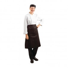 Bistro sloof zwart kort 100cm x 70cm Sloven Horeca