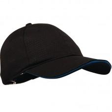 Colour by Chef Works petje Cool Vent zwart met blauwe rand Koksmutsen en Caps