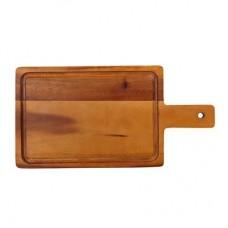 Acacia Plank met Handvat | Klein | 35 x 18 cm Broodplanken