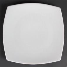 Olympia Whiteware Vierkant Bord met Afgeronde Hoeken Ø 18.5 cm. Per 12 Olympia Wit Porselein