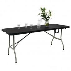 Bolero inklapbare tafel zwart 183cm Buffettafels