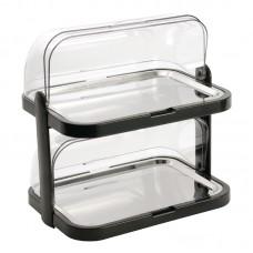 Gekoelde rolltop display dubbel Buffetstandaard