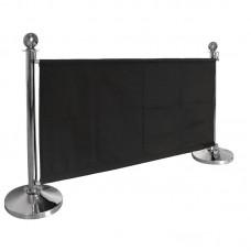 Bolero canvas afzetdoek zwart Afzetpalen