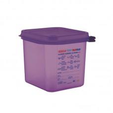 Araven GN1/6 siliconen allergenen voedseldoos met deksel 2,6L