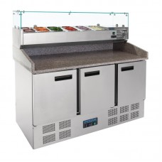 Polar Gekoelde Pizza/sandwich Prepareer Counter 368ltr Koelwerkbanken