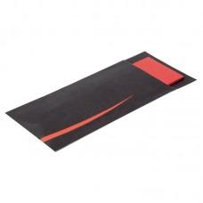 Europochette Zwart met Rood Bestekzakjes met Servet | 125 stuks  Disposables
