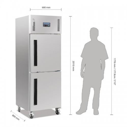 Polar Gastro 1-deurs koeling met gedeelde deur 600ltr