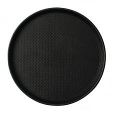 Roltex Blackline Antislip Dienblad Zwart Ø 31 cm. Roltex Blackline Antislip
