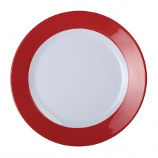 Kristallon Gala Melamine Bord met Rode Rand Ø 19,5 cm. Per 6 Kristallon Gala Melamine Servies