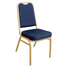 Bolero banketstoel met vierkante rugleuning blauw (4 stuks) Stackchairs