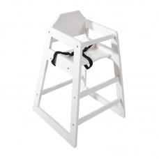 Bolero Hoge Kinderstoel Antiek Wit | Zithoogte: 50 cm. Kindermeubilair