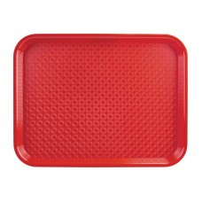 Kristallon Dienblad Plastic 305 x 415mm rood Kristallon Servies