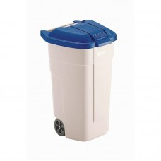 Rubbermaid rolcontainer met blauwe deksel Afvalcontainers