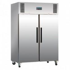 Polar 2-deurs koelkast RVS 1200ltr Koelkasten