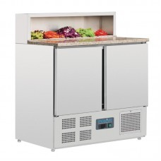 Polar gekoelde pizza/sandwich prepareer counter 288ltr Koelwerkbanken