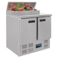 Polar Gekoelde Saladette Prepareer Counter | 254 Liter | 5 x GN1/6