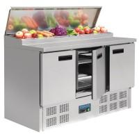 Polar Gekoelde Salade met 3 Deuren | 390 Liter | ACTIE